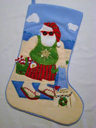 hand painted capiz shell guam santa in coconut tree christmas