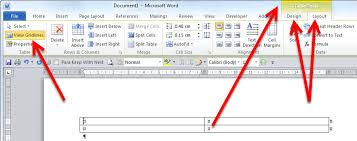 How To Put An Excel Table Into Word Word Show Table Grid Lines Cybertext Newsletter