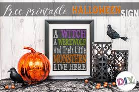 cute halloween sign free printable diy swank