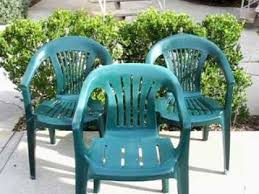 Green Patio Chairs Budget Garden Howto Restoring Those Basic Plastic Patio Chairs