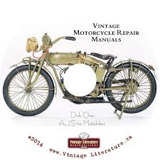 vintage motorcycle repair manuals and parts catalogs on double dvd
