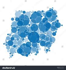 blue shades color abstract map sudan filled circles different stock illustration