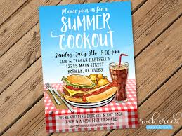 summer barbecue invitation summer cookout invitation