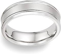 4mm wedding band platinum wedding band with brushed center 4mm fg116910p4l