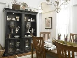 dining room wall units dining room black hutch is the showstopper in this white