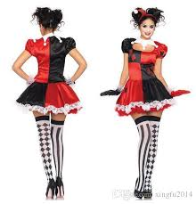 Ladies Clown Halloween Costumes 2017 Squad Harley Quinn Costume Women Clown Circus
