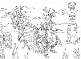 excellent american indian coloring pages with native american