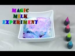 milk and soap magic trick milk experiment with food coloring