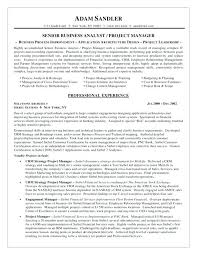 Business Analyst Resume Objective Sample Of Financial Analyst Resume U2013 Topshoppingnetwork Com