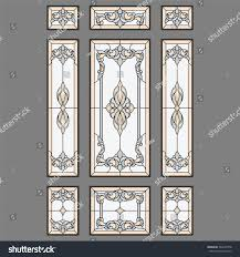 stained glass door patterns door classic stained glass vector stock vector 564607378