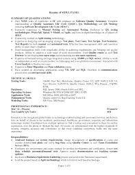 resume for freshers software testing samples professional