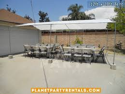 party rentals san fernando valley 12ft x 20ft tent rental pictures prices