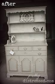 pretty distressed cottage inspired dining hutch before u0026 after