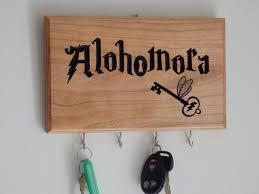 harry potter alohomora key holder with flying key by