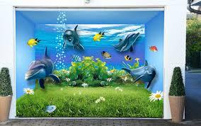 wallpaper accessories diy materials home furniture diy 3d grass dolphins 6 garage door mural wall print decal wall deco aj wallpaper ie