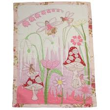 Girls Patchwork Bedding by Patchwork Fairies In The Garden Single Bed Quilt