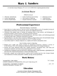 Retail Merchandiser Resume Sample by Assistant Buyer Resume The Best Letter Sample