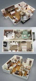 design house plan 50 two 2 bedroom apartment house plans flats 3d and sims