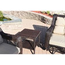 3 pcs swivel glider wicker set