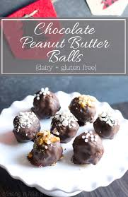 it milk free chocolate peanut butter balls dairy gluten