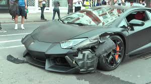 lamborghini crash lamborghini aventador crash in london youtube