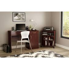 south shore axess royall cherry printer stand 7246691 the home depot