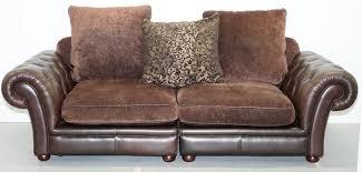 fabric chesterfield sofa stunning brown leather and fabric chesterfield sofa matching