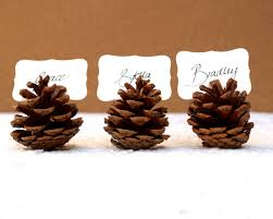 pine cone table decorations woodland wedding place cards 20 pine cone holder table setting