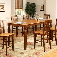 5 Piece Gathering Table Set High Top Table With Leaf And 4 Together