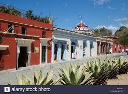 colonial houses macedonio alcala oaxaca city mexico stock photo