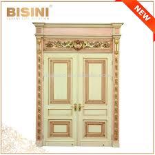 porte interieur en bois massif français style baroque feuille d u0027or double intérieur porte