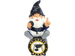 st louis blues gnome sitting on logo lids