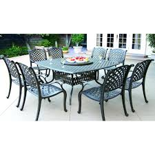Outdoor Table Lazy Susan by Darlee Nassau 9 Piece Cast Aluminum Patio Dining Set With Lazy