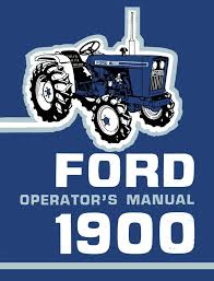 ford 1900 tractor operator u0027s manual