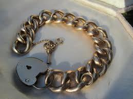 rose link bracelet images Antique large scale 10k rose gold curb link bracelet with 9k gold jpg