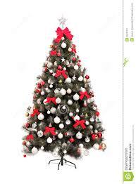 studio shot of a decorated christmas tree stock image image