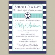 Nautical Appearance Nautical Baby Shower Invitations Plumegiant Com