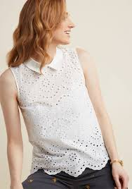 sleeveless collared blouse embellished sleeveless blouse with collar modcloth