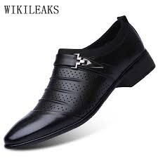 wedding shoes for men hollow out oxfords formal shoes mens leather wedding shoes black