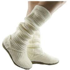 womens knit boots white s sweater boots winter style flat knit slouch