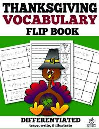 thanksgiving vocabulary words flip book by the classroom creative