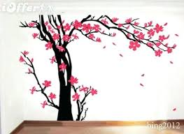 Cherry Blossom Tree Wall Decal For Nursery Cherry Blossom Tree Wall Decal Nursery Plus Tree Blossom Tree Wall
