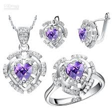 jewelry set 2017 plated 18k heart shaped jewelry set jewelry europe and
