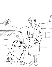 jesus heals a blind man coloring page coloring home