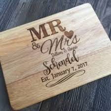 wedding gifts engraved laser engraved bamboo cutting board with handle customized last