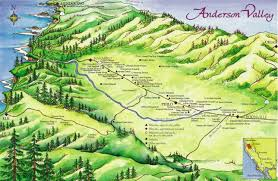 Napa Valley Winery Map Anderson Valley Wine Map Philo California U2022 Mappery