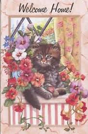 popular greetings welcome home card kitten on a window sill ebay