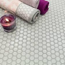 antiguan sky hexagon polished rimmed ceramic tile tilebar com