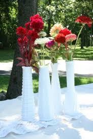 Vintage Vases Wedding Milk Glass Wedding Vintage Vases Lot Of 8 For Bridal Showers Baby