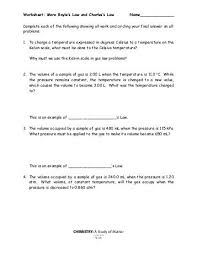 gas laws worksheet charles u0027 boyle u0027s and the combined
